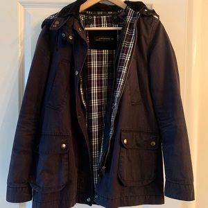 Barbour Navy Look a Like Field Coat